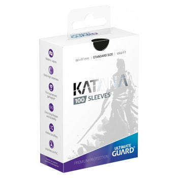 Ultimate Guard Sleeves - 100 count - Standard Sized - Katana - Black