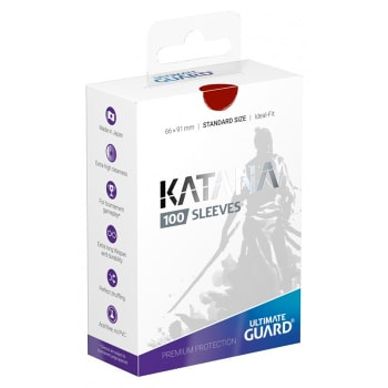 Ultimate Guard Sleeves - 100 count - Standard Sized - Katana - Red
