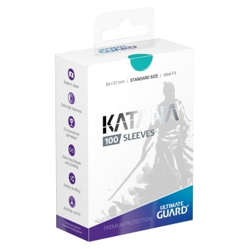 Ultimate Guard Sleeves - 100 count - Standard Sized - Katana - Turquoise