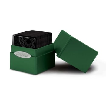 UltraPro - Satin Cube Deck Box - Forest Green