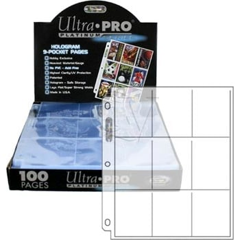9 Pocket Folder Pages - 100 ct. Box