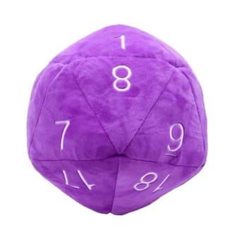 Jumbo d20 Plush Dice - Purple