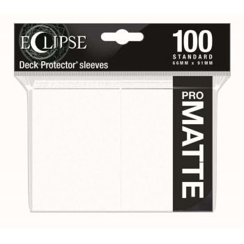 Ultra Pro Sleeves - 100 count - Standard Sized - Matte Eclipse Arctic White