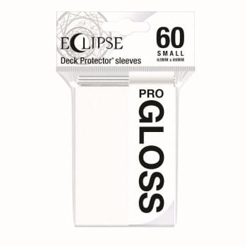 Ultra Pro Sleeves - Small - Pro-Gloss Eclipse Arctic White