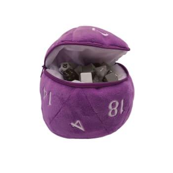 Plush Dice Bag - Purple