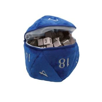 Plush Dice Bag - Blue