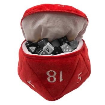 Plush Dice Bag - Red