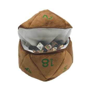 Plush Dice Bag: Dungeons and Dragons - Copper and Green