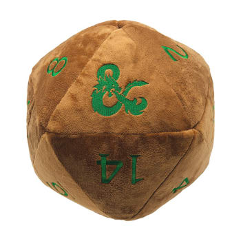 Jumbo d20 Plush Dice - Dungeons and Dragons - Copper and Green