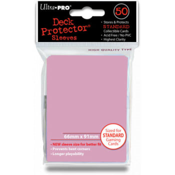 Ultra Pro Sleeves - Solid Pink - Standard Sized (50)