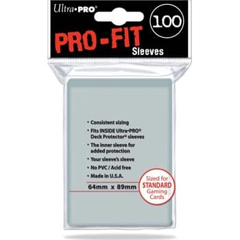 Ultra Pro Sleeves - Pro-Fit - 100 count