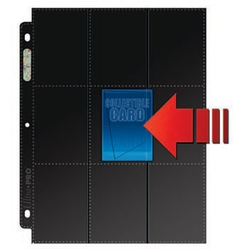 18 Pocket Side-Load Black Page Box - 50 Sheets