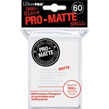 Ultra Pro Sleeves - 60 count - Pro Matte - White - Small