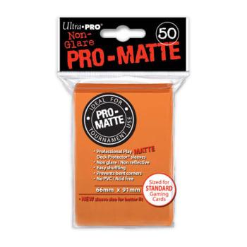 Ultra Pro Sleeves - 50 count - Pro-Matte - Orange