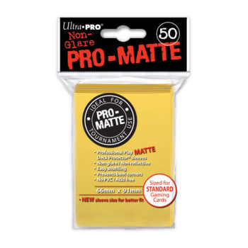 Ultra Pro Sleeves - 50 count - Pro-Matte - Yellow