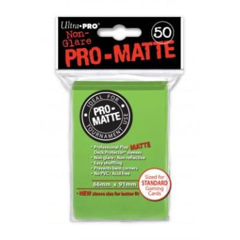 Ultra Pro Sleeves - 50 count - Pro-Matte - Lime Green