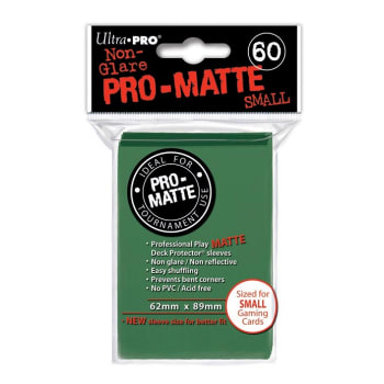 Ultra Pro Sleeves - 60 count - Pro Matte - Green - Small