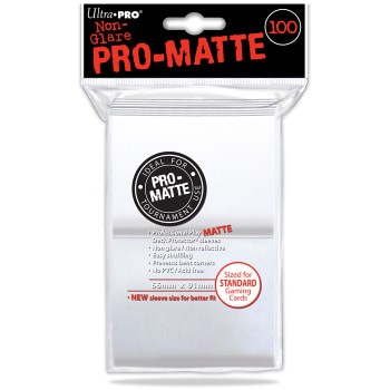 Ultra Pro Sleeves - 100 count - Standard Sized - Pro-Matte White