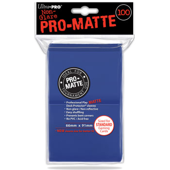 Ultra Pro Sleeves - 100 count - Standard Sized - Pro-Matte Blue