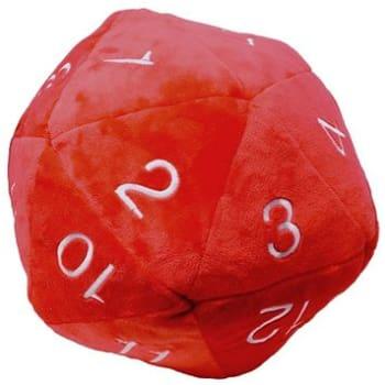 Jumbo d20 Plush Dice - Red