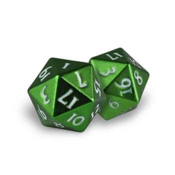 D20 Dice Set: Heavy Metal - Emerald Frost (2)