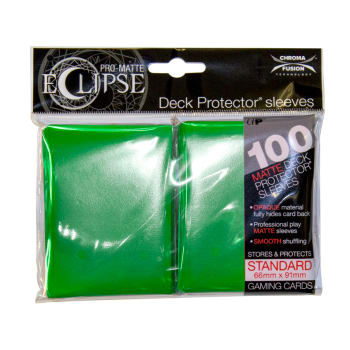 Ultra Pro Sleeves - 100 count - Standard Sized - Pro-Matte Eclipse Green