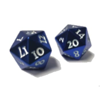 D20 Dice Set: Heavy Metal - Blue (2)