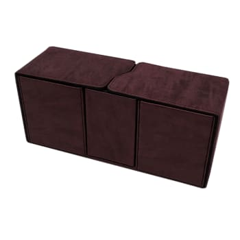 Alcove Vault Deck Box - UltraPro - Suede Collection - Ruby
