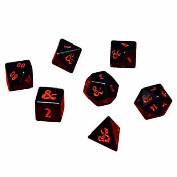 Poly 7 Dice Set: Heavy Metal - Dungeons & Dragons