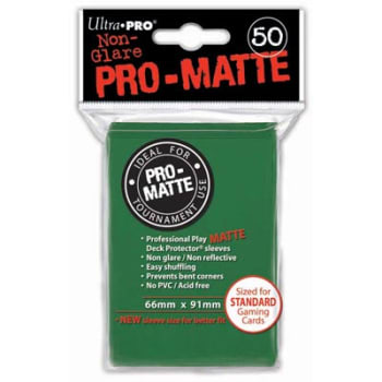 Ultra Pro Sleeves - 50 count - Standard Sized - Pro-Matte Green