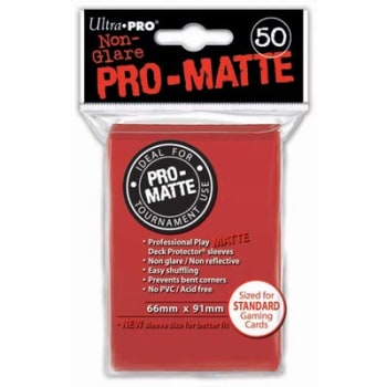 Ultra Pro Sleeves - 50 count - Standard Sized - Pro-Matte Red