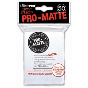 Ultra Pro Sleeves - 50 count - Standard Sized - Pro-Matte White