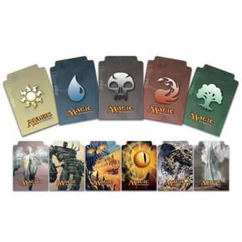 graphic regarding Magic the Gathering Card Dividers Printable named Deck Dividers - Magic - Mana Coloured