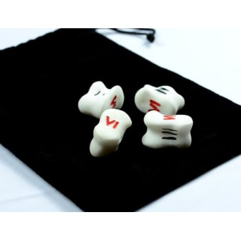 TALI 5 Knuckle Bone Dice Only (1 Red)