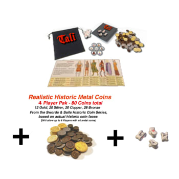 Tali Basic Set (6 player) + 80 Historic Metal Coins