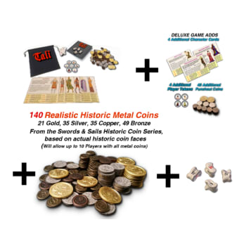 Tali Deluxe Set (10 player) + 140 Historic Metal Coins