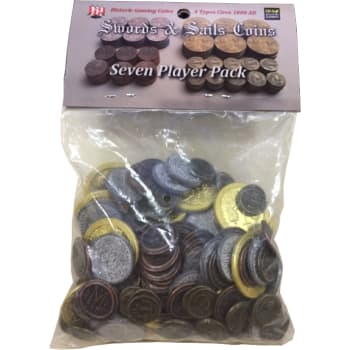 Swords & Sails: Historic Metal Coins 7 Player Pack