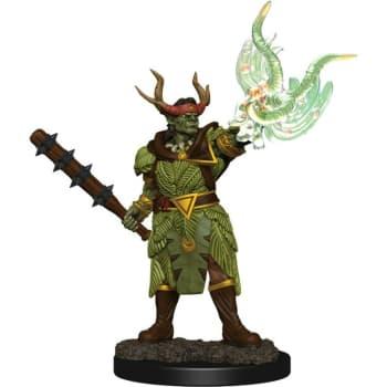 Pathfinder Battles: Premium Painted Figure - Half-Orc Druild Male