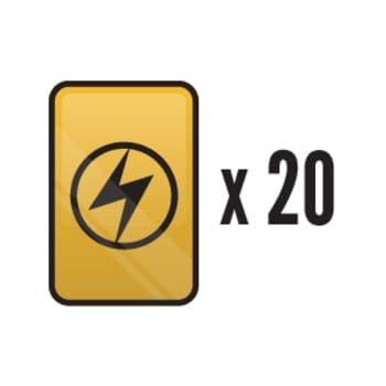 20 Assorted Lightning Energy