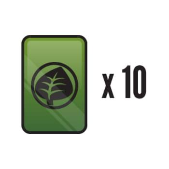 10 Assorted Foil Grass Energy