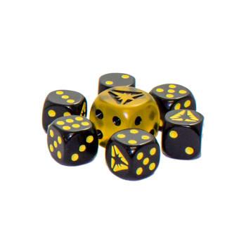 Pokemon - SM Ultra Prism Yellow/Black Dice Set of 6 + Bonus Die