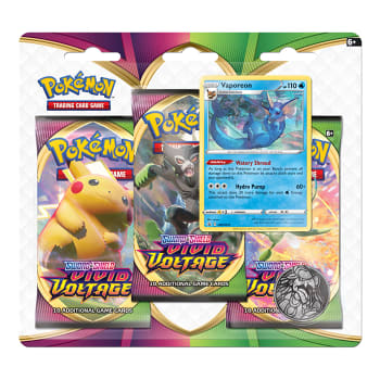 Pokemon - SWSH Vivid Voltage 3 Booster Blister - Vaporeon
