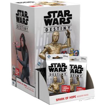Star Wars Destiny: Spark of Hope Booster Display