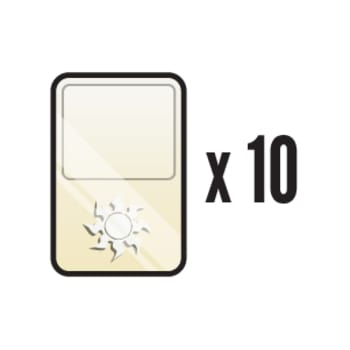 10 Random Foil Plains - Basic Land