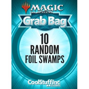 10 Random Foil Swamps - Basic Land
