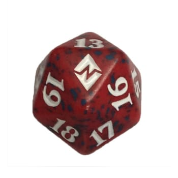 Battle for Zendikar - D20 Spindown Life Counter - Red