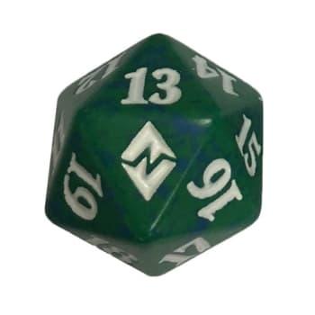 Battle for Zendikar - D20 Spindown Life Counter - Green