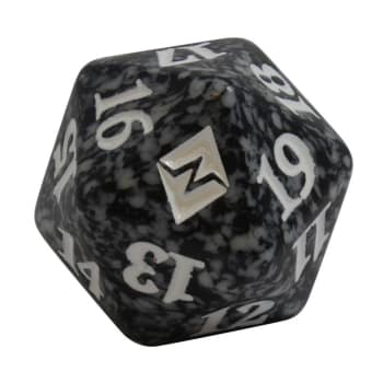 Battle for Zendikar - D20 Spindown Life Counter - Black