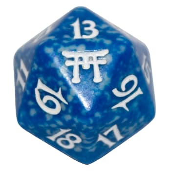 Champions of Kamigawa - D20 Spindown Life Counter - Blue