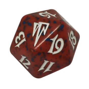 Coldsnap - D20 Spindown Life Counter - Red